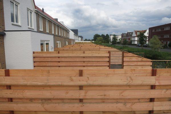 Douglash houten schutting laten plaatsen