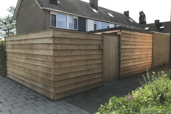 Douglash houten schutting Nieuwebrug (9)
