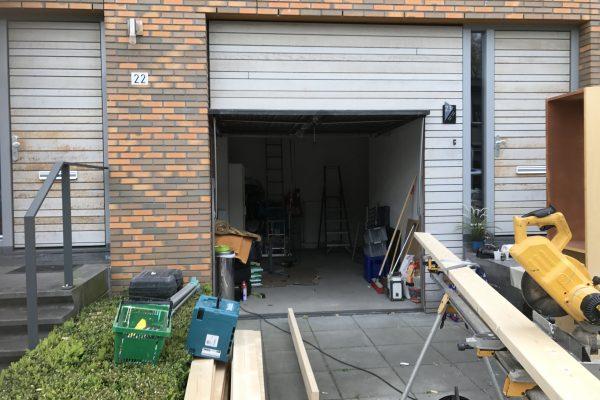 Plaatsen van vliering in garage (1)