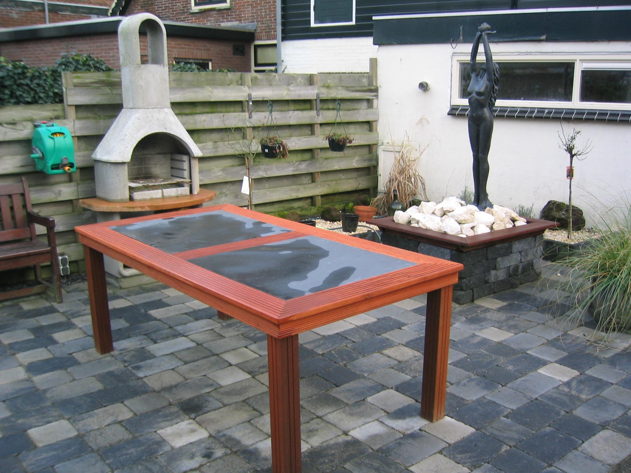 Tafel Laten Maken : Hard houten tuin tafel mp timmerwerken