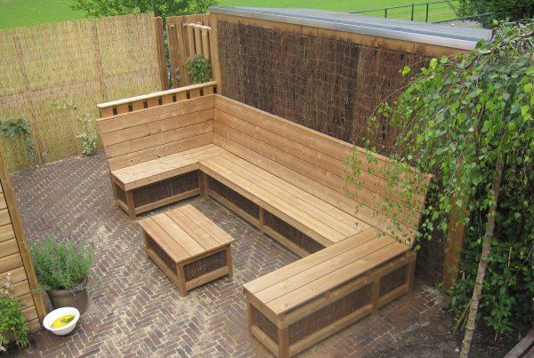 houten lounge set op maatlaten maken