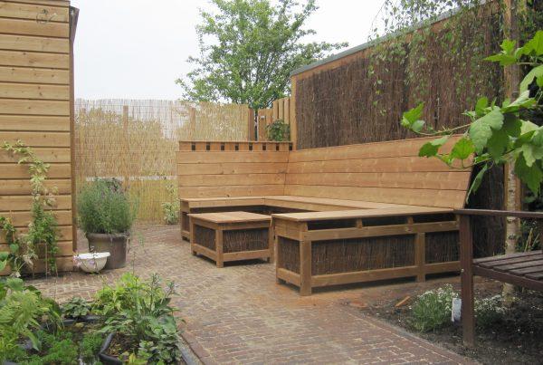 houten lounge set op maat gemaakt