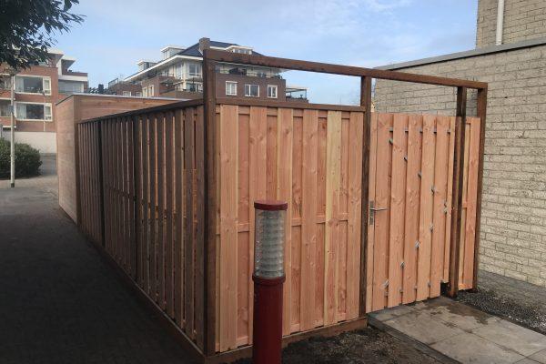 douglash houten schutting met poortdeur