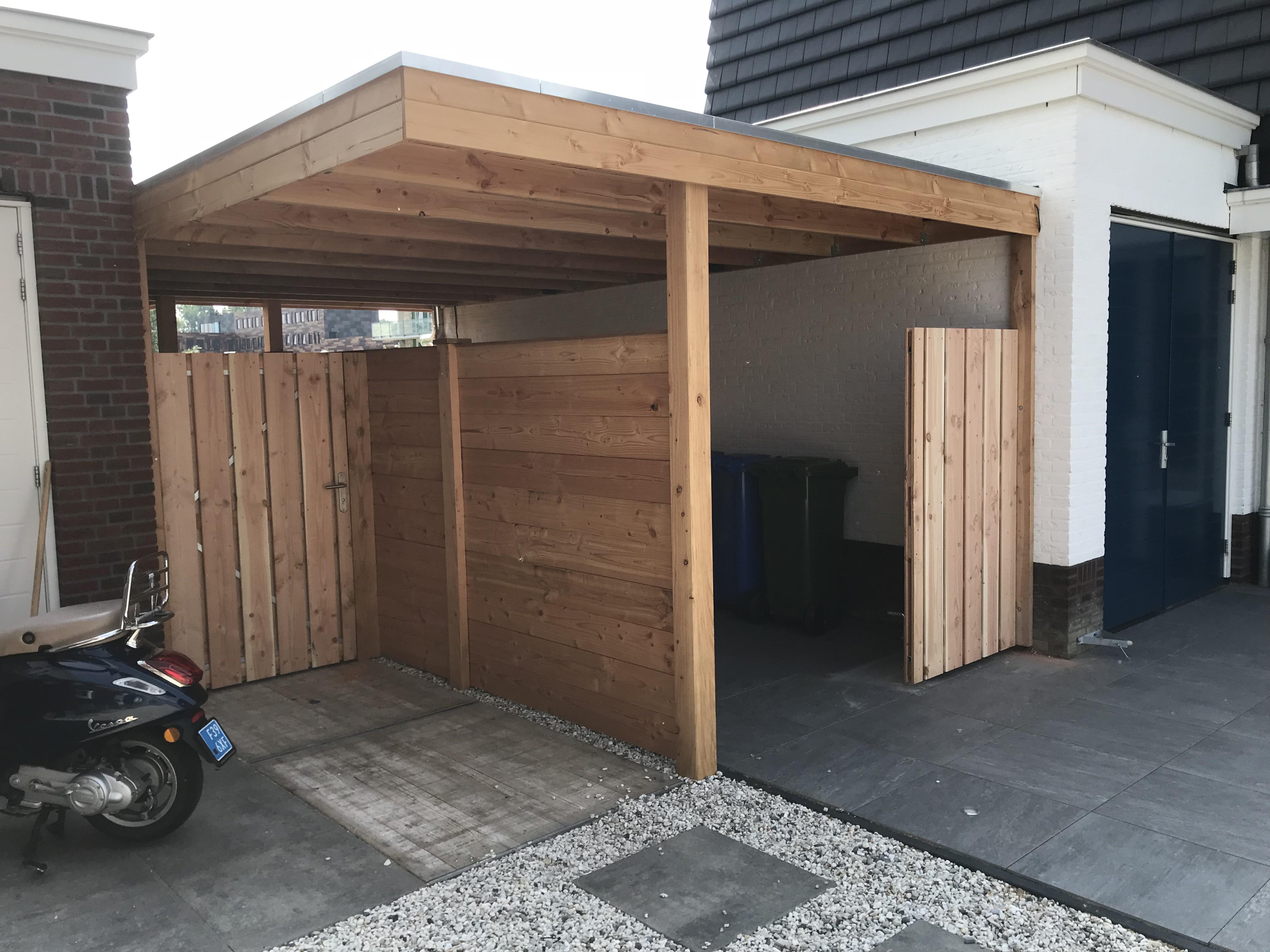 Douglas houten overkapping