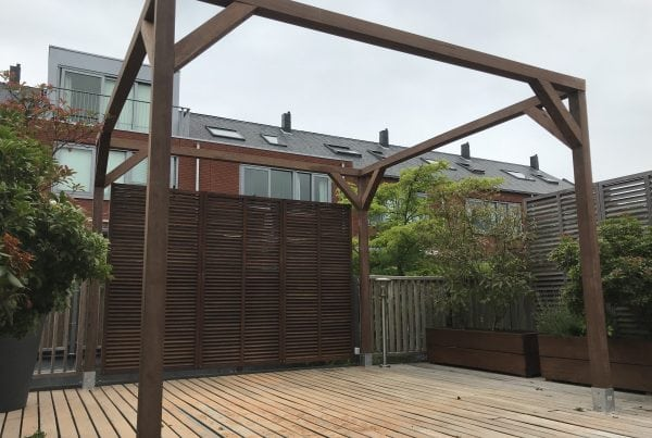 pergola geplaatst in Utrecht