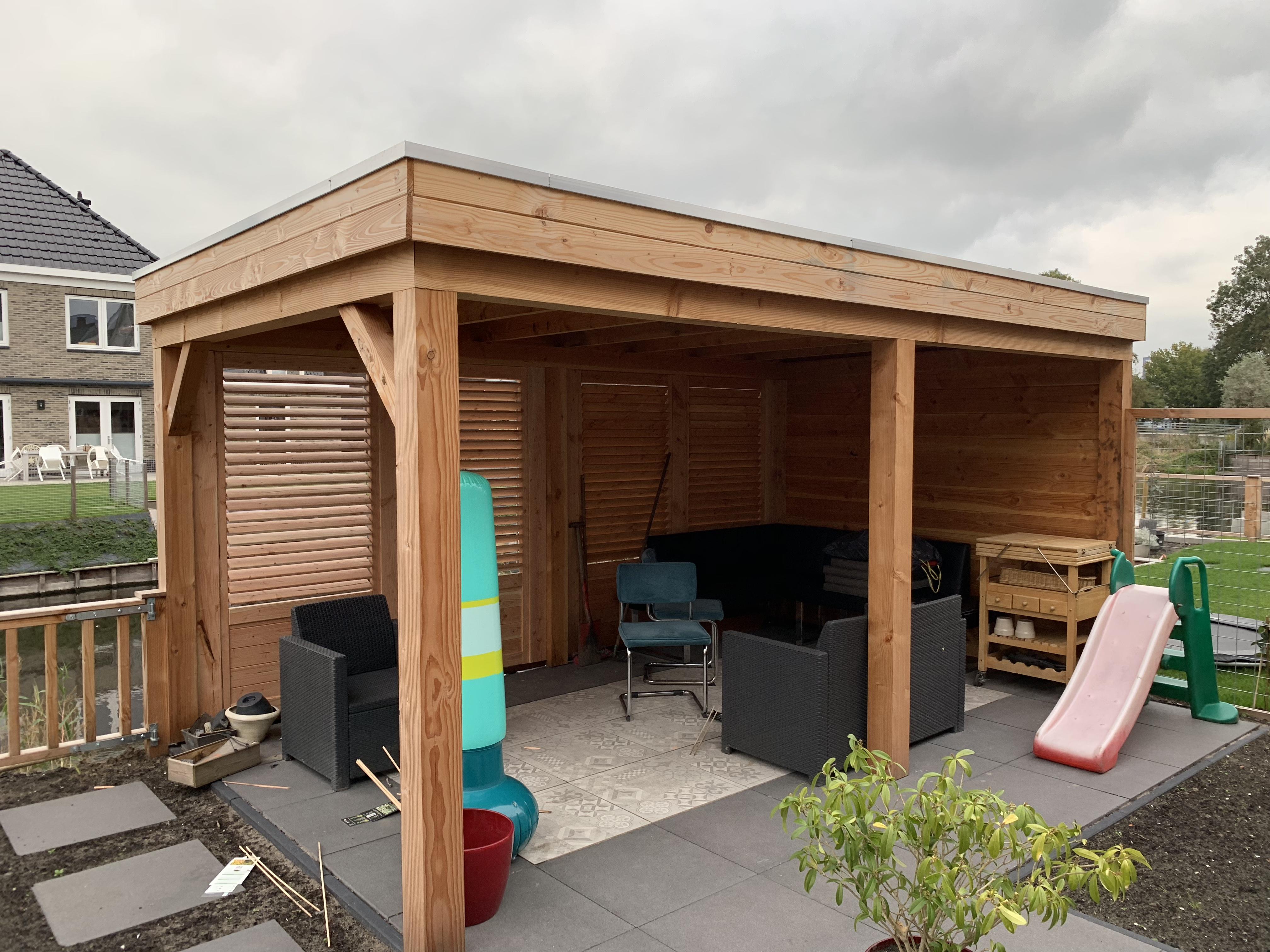 Beste Overkapping met douglas houten shutters (6) - MP Timmerwerken NV-14