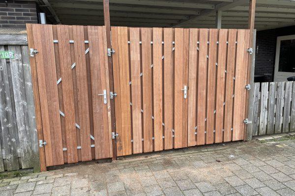 hard houten carportdeuren geplaatst schoonhoven (1)