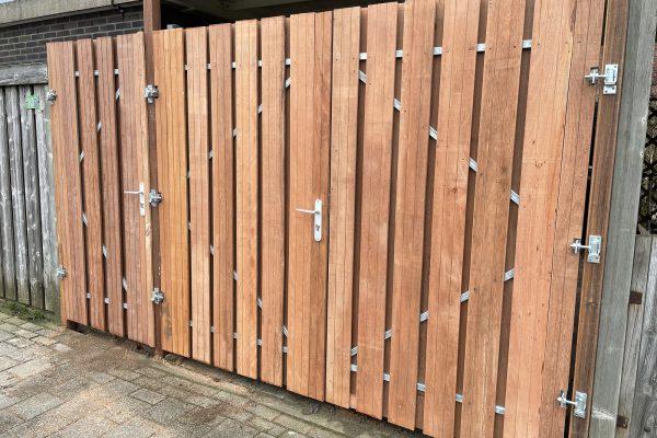 hard houten carportdeuren geplaatst schoonhoven (2)