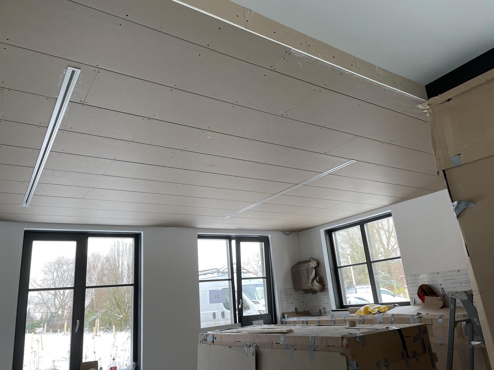 Verlaagd plafon keuken